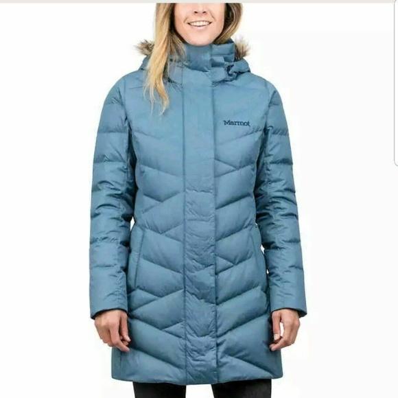 5e3b8010 Marmot Jackets & Coats | Varma Womens Blue Long 700 Fill Down Parka ...